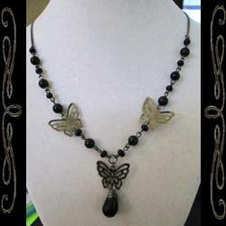 Gothic Faery Wings Necklace