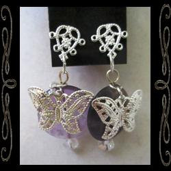 Butterfly Moon Earrings