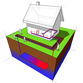 Water Source heat pump diagram