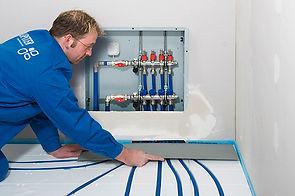 Protecting pipework leaving the manifold using steel / aluminium sheet