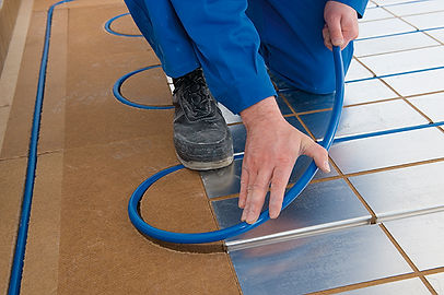 Installing the pipe into an ideal ECO panel
