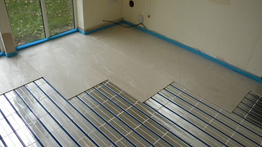 Installing a panel based underfloor heating system