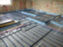 Jupiter's Pipe installed ready for a screed to go on top for System Standard