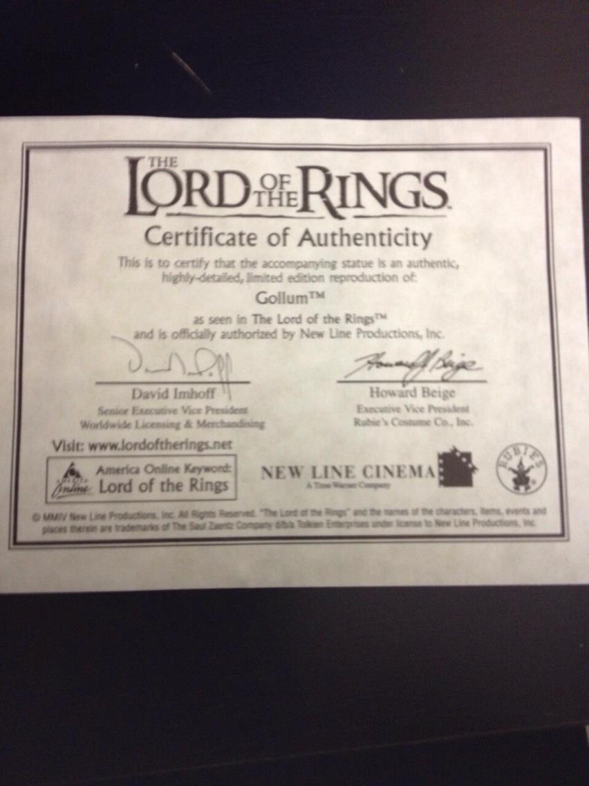 Certificato di garanzia Weta