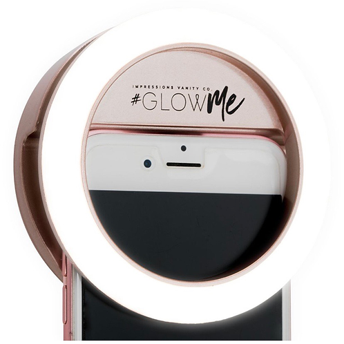 GLOWME® 2.0 LED SELFIE RING LIGHT FOR MOBILE DEVICES (USB RECHARGEABLE