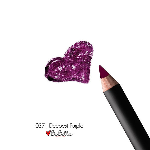BeBella Cosmetics Lip Liner- 027 DEEPEST PURPLE