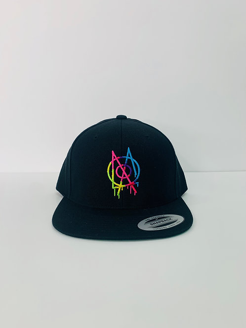 MOXLA HAT-BLACK & RAINBOW