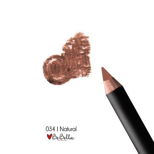 BeBella Cosmetics Lip Liner- 034 NATURAL