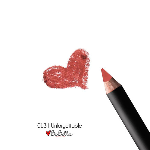 BeBella Cosmetics Lip Liner- 013 UNFORGETTABLE