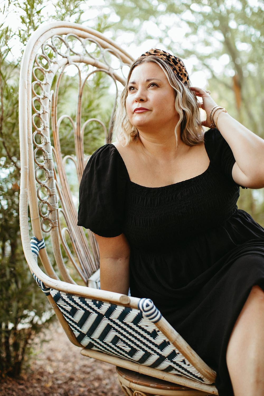 unique headshot of confident woman