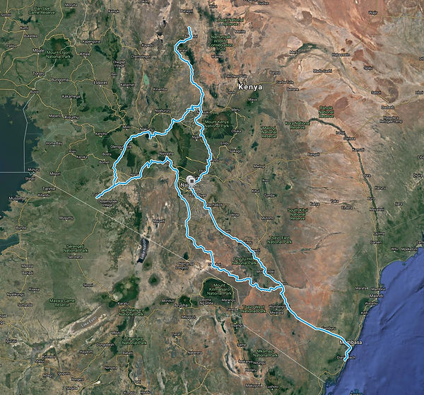Route Map Classic-Safari-Kenya-16-days SansaTravel