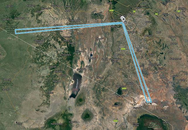 Route Map Fly-in-Luxury-Safari-7-days SansaTravel