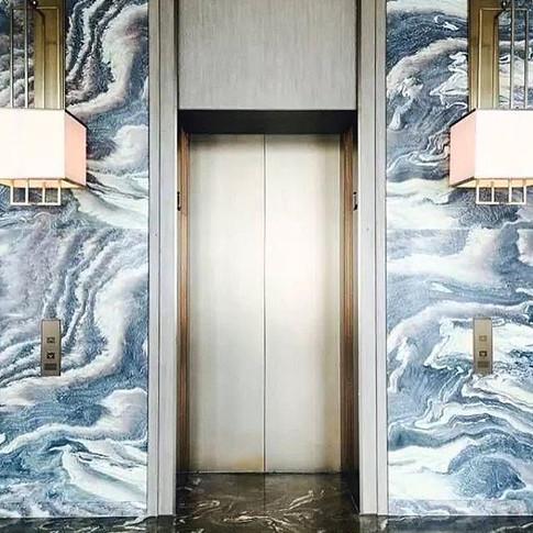 Marble on marble. Wonderful hotel lobby lift by #yabupushelberg