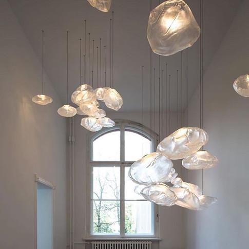 Glass organic lighting from @boccidesign