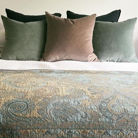 Romantic guest bedroom installation