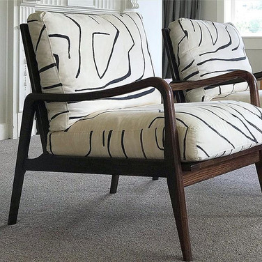 Custom armchairs for a residential project
