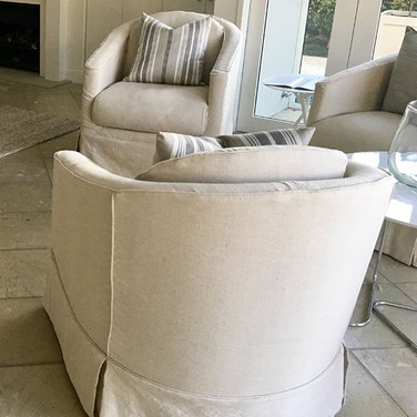 Old 80s swivel chairs get a new lease of life