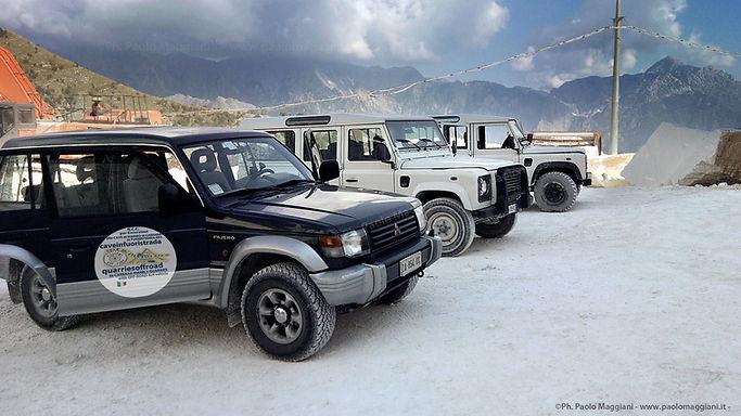 Escursione alle cave di marmo di carrara in fuoristrada 4x4 jeep tour