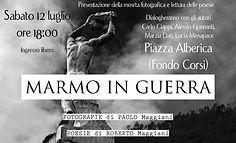 Marmo in Guerra evento Marble Weeks Carrara 2014