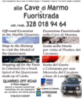Cave di Marmo in Fuoristrada - Escursione in jeep - Merenda Colazione del Cavatore - Lardo di Colonnata