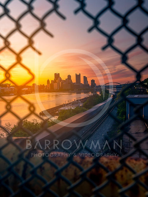 Pittsburgh Through A Fence
