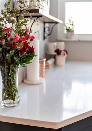Modern Kitchen With Roses