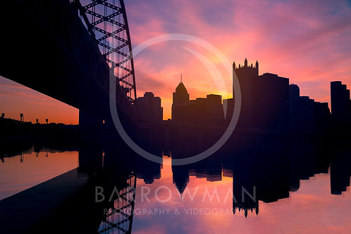 Downtown Pittsburgh Silhouette