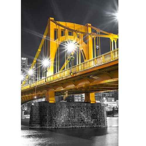 Downtown Pittsburgh Andy Warhol Bridge located downtown Pittsburgh.