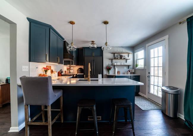 Modern Kitchen With Dark Accents