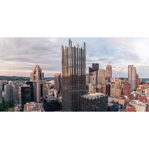 Photo of Pittsburgh Skyline featuring the PPG Place Building, Highmark, UPMC.
