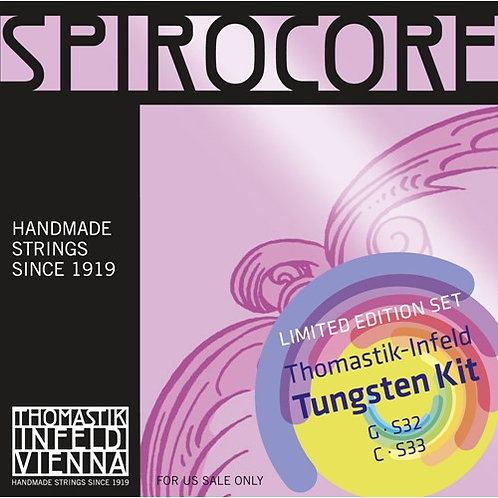 Thomastik Spirocore Combo Tungsten G and C Strings