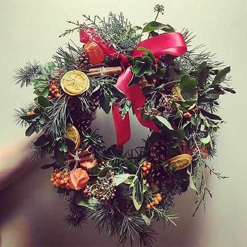 Winter Door Wreath