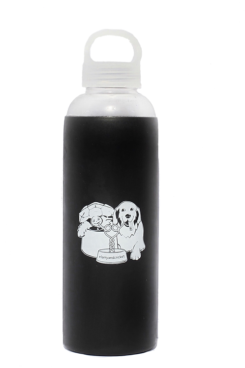 Larry and Cricket Glass Water Bottle