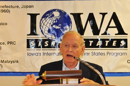 Robert D. Ray Iowa Sister States Service Award Recepients
