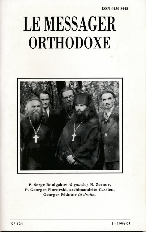 LE MESSAGER ORTHODOXE N° 124