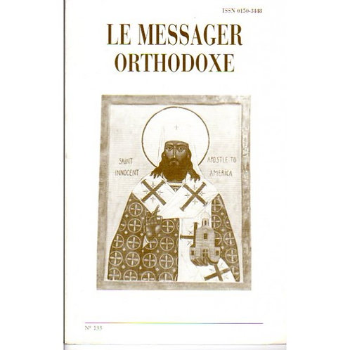 LE MESSAGER ORTHODOXE N° 133