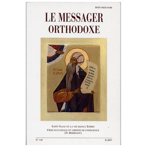 LE MESSAGER ORTHODOXE N° 145