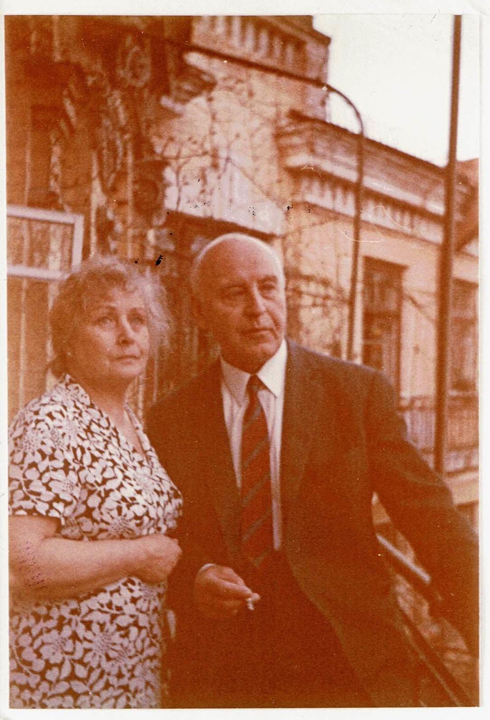 Mila et son frère Vladimir (le père d'Anne Hogenhuis) à Kiev dans les années 1960. Ils ne s'étaient pas revus depuis 1918.