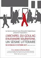 """Affiche de l'exposition """"L'Archipel du Goulag d'Alexandre Soljénitsyne, un séisme littéraire""""."""