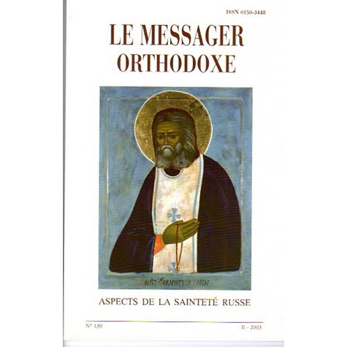 LE MESSAGER ORTHODOXE N° 139
