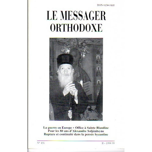 LE MESSAGER ORTHODOXE N° 131