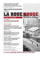 """Affiche de l'exposition """"Dans la patrie de Soljénitsyne, prologue à La Roue Rouge""""."""