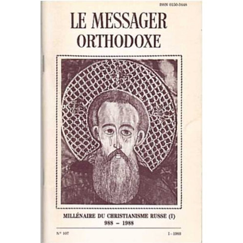 LE MESSAGER ORTHODOXE N° 107