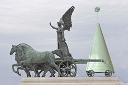 Foto intervenida Monumento Victorio Manuel II ,Roma Italia- 2015