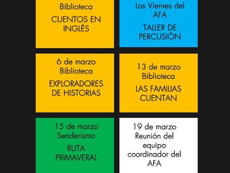 Agenda de marzo 2020
