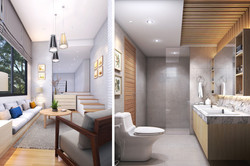 Private Living & WC.