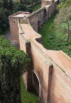 The city wall, Rome