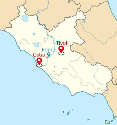 Lazio Map