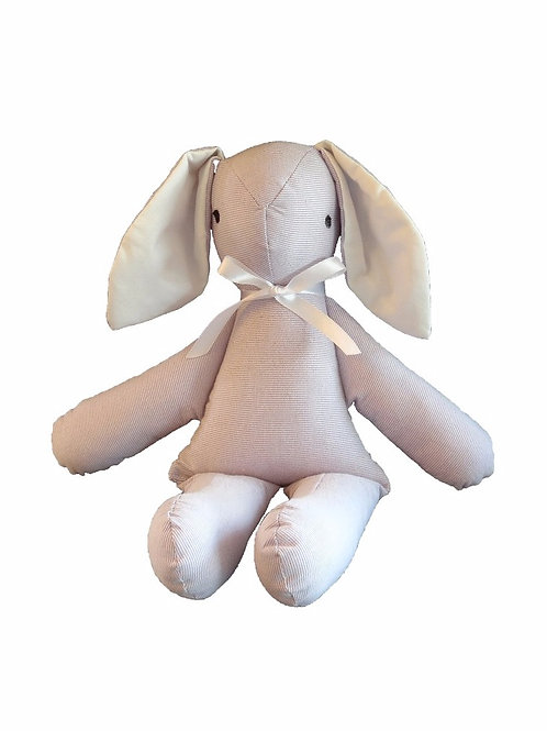 בובת ארנב בסגול ולבן
