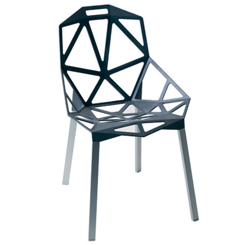Modeled from die-cast aluminum and constructed like a soccer ball, Chair_One was designed to be more void than solid, to use the least material to create the most product.